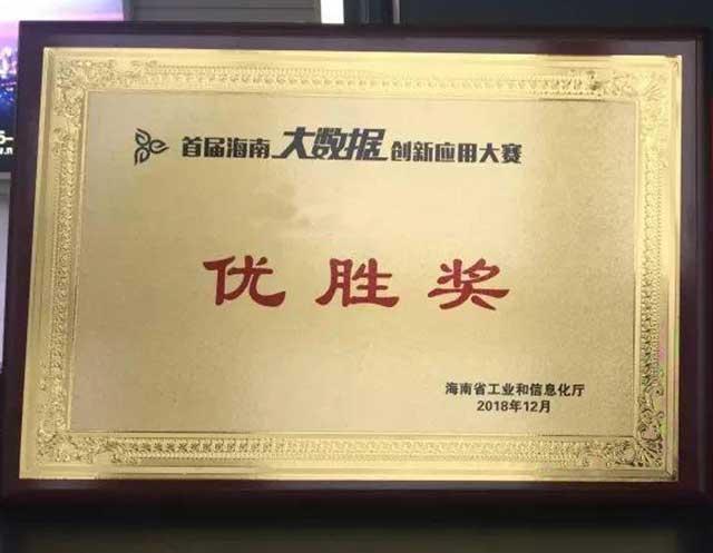 海南创新应用-荣誉证书